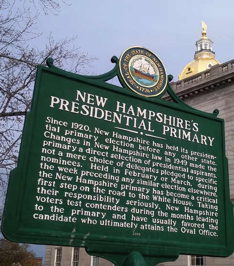 NH Primary Historic Marker